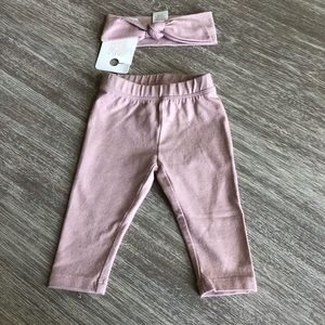 Gymboree Rose Gold Head band and leggings